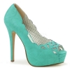 BELLA-30 Teal Faux Leather